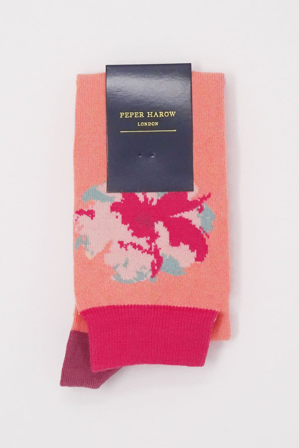 Peach Knee-Length luxury women's socks
