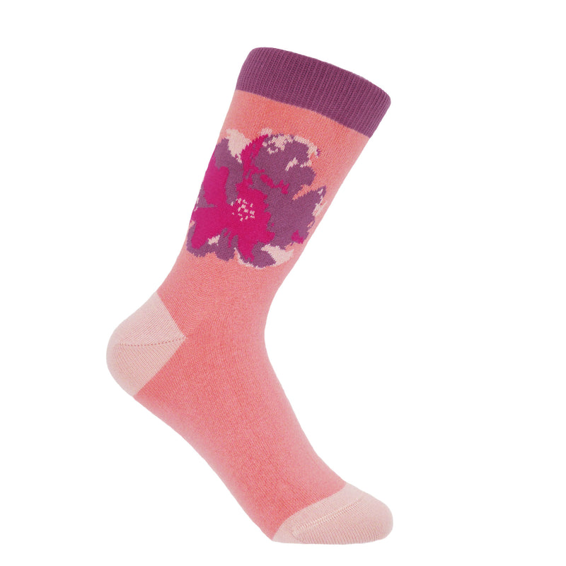 Wild Flower Women's Socks - Peach