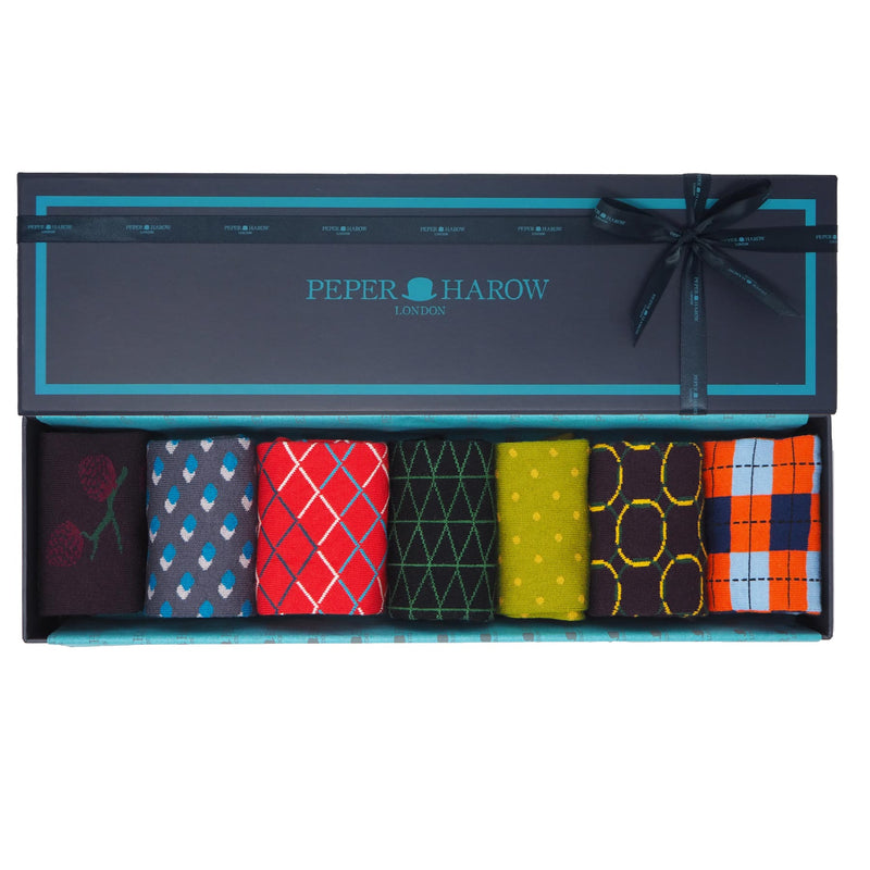Peper Harow Best Of British Men's Luxury Gift Box Socks