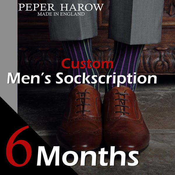 6 Month Men's Custom Sockscription