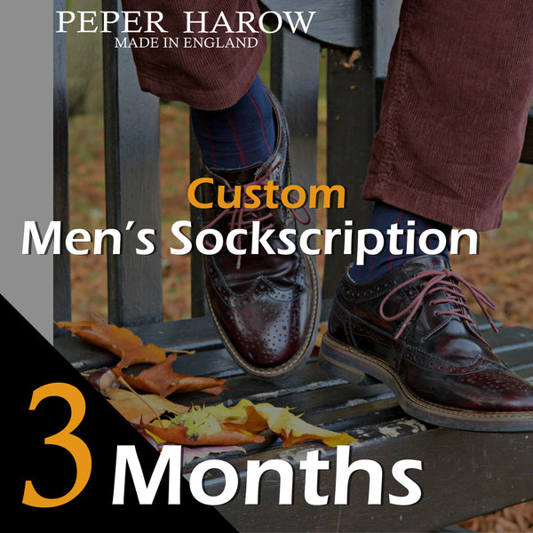 3 Month Men's Custom Sockscription