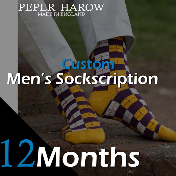 12 Month Men's Custom Sockscription