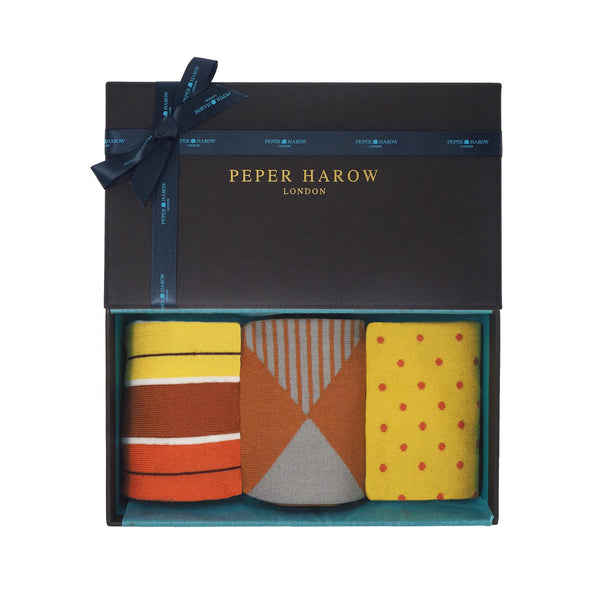 Peper Harow Cinnamon Men's Luxury Gift Box Socks
