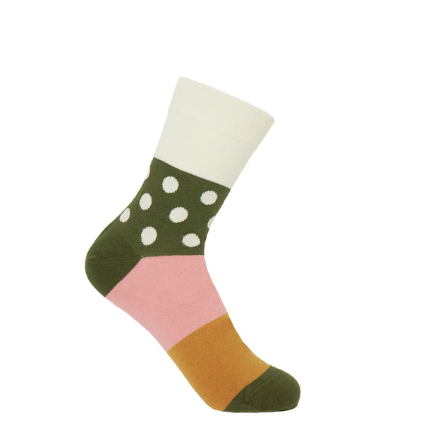 Peper Harow cream Mayfair women's luxury socks