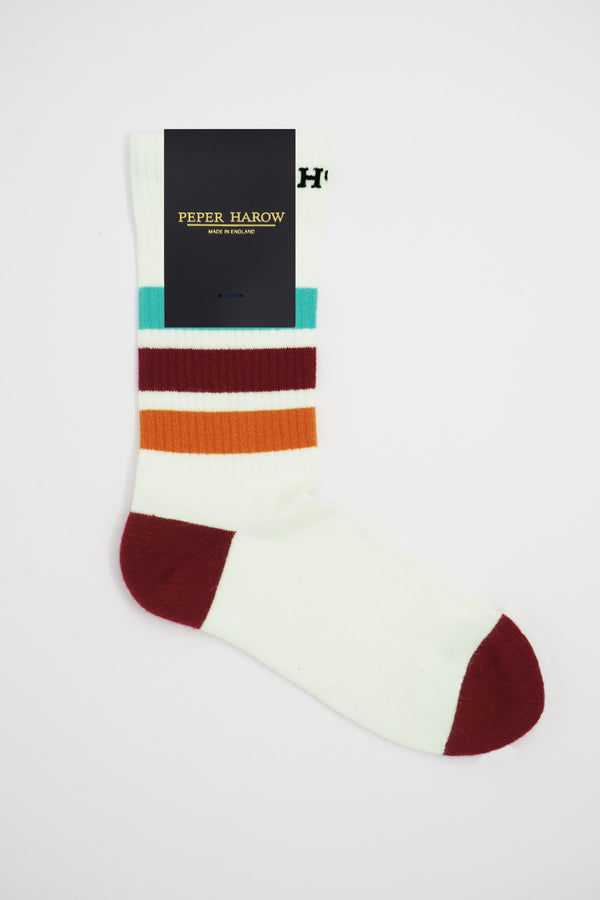 Peper Harow white organic cotton men's sport socks in packaging