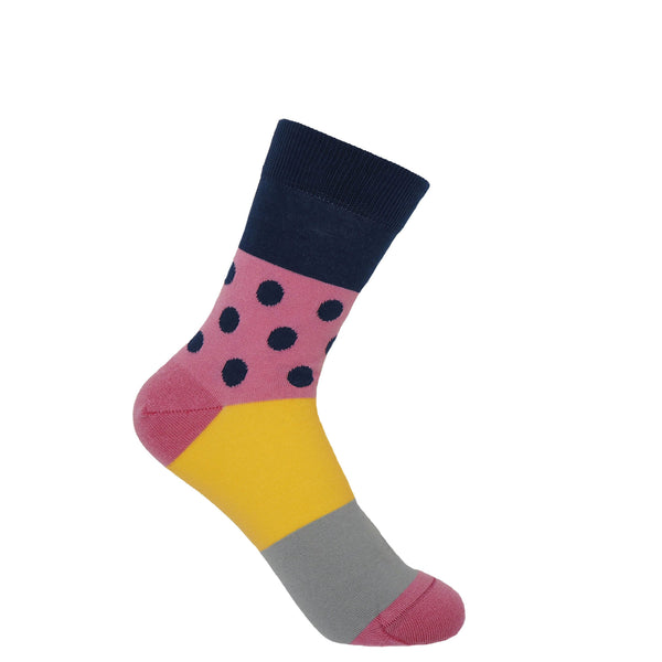 Peper Harow navy Mayfair women's luxury socks