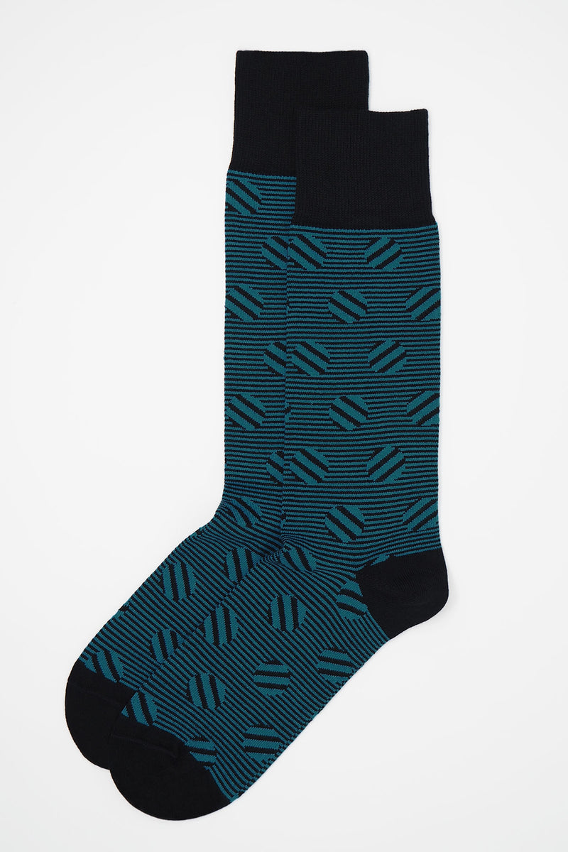 Polka Stripe Men's Socks - Sable