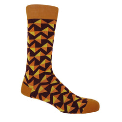 Peper Harow maroon Triangle men's luxury socks