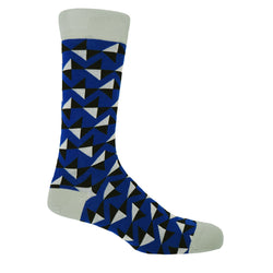 Peper Harow royal blue Triangle men's luxury socks