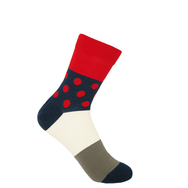 Peper Harow scarlet Mayfair women's luxury socks