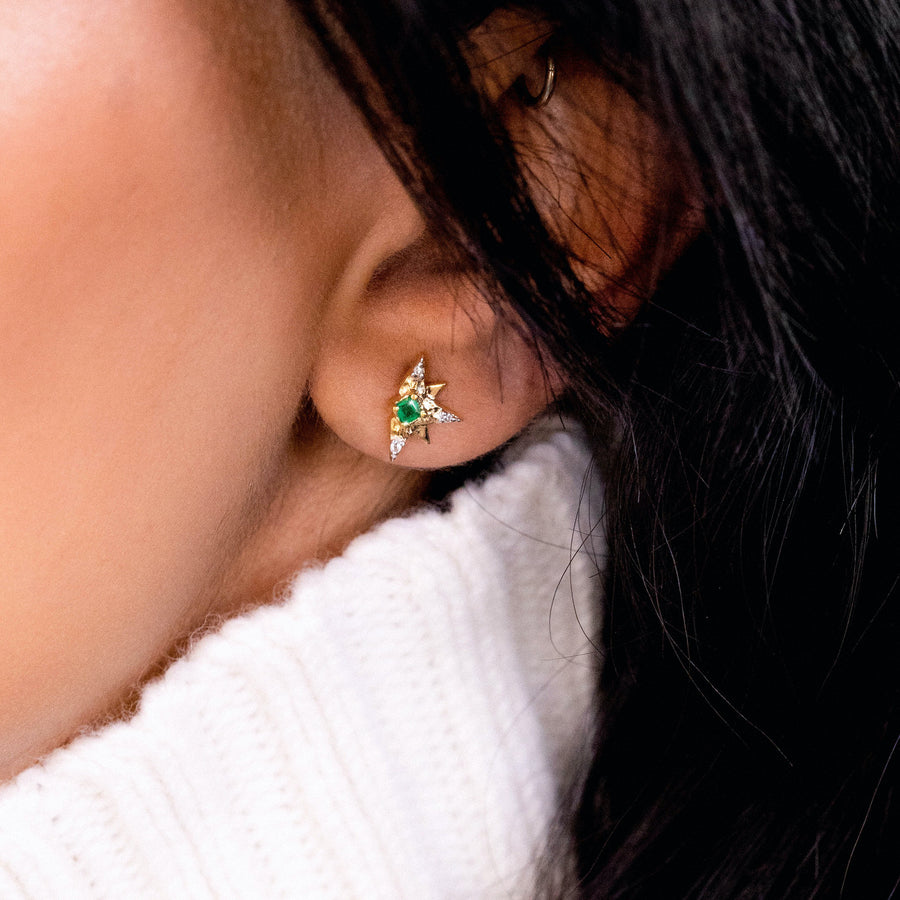 Emerald Superstar Earrings