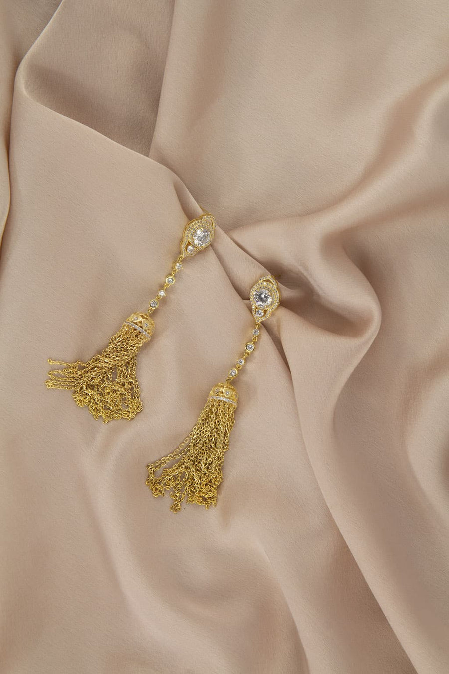 Gilded Tassel Earrings