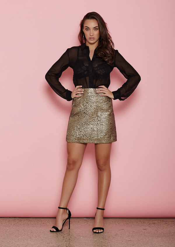 Lago Gold Foil Skirt