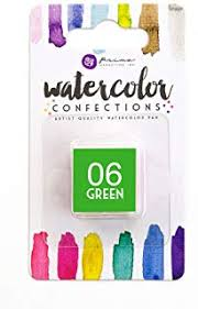06 Green - Refill Pan - Watercolor Confections Set by Art Philosophy - Prima Marketing