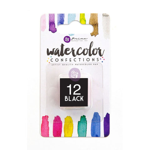 12 Black - Refill Pan - Watercolor Confections Set by Art Philosophy - Prima Marketing