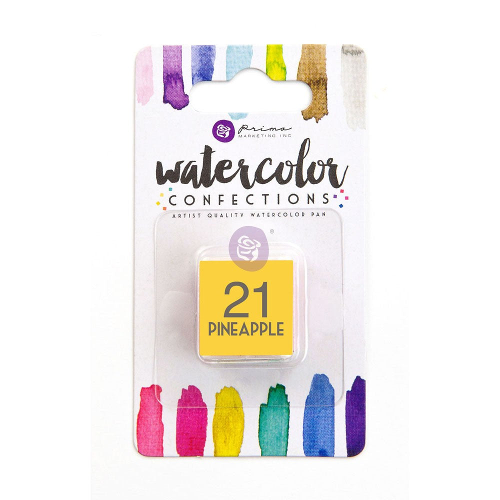 21 Pineapple - Refill Pan - Watercolor Confections Set by Art Philosophy - Prima Marketing