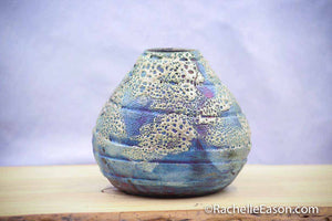 "Raku Pot ~ ""Elsa's Snow"" ~ Vase, Planter, Sculpture - Ceramic Pottery"