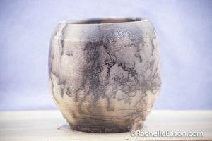 "Raku Pot Horse Hair ~ ""Open Universe"" ~ Vase, Planter, Sculpture - Ceramic Pottery"