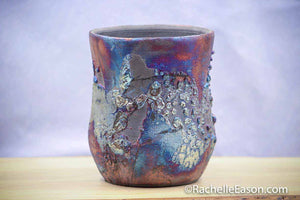 "Raku Pot ~ ""Fairy Dance"" ~ Vase, Planter, Sculpture - Ceramic Pottery"