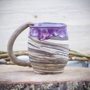 Boho Plum (Deep Earth Clay) 18 oz Mug Tea Cup - Ceramic Pottery - Glazed Stoneware