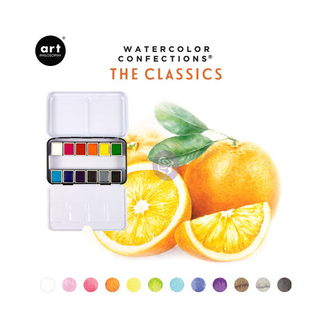 The Classics - Watercolor Confections Set by Art Philosophy - Prima Marketing