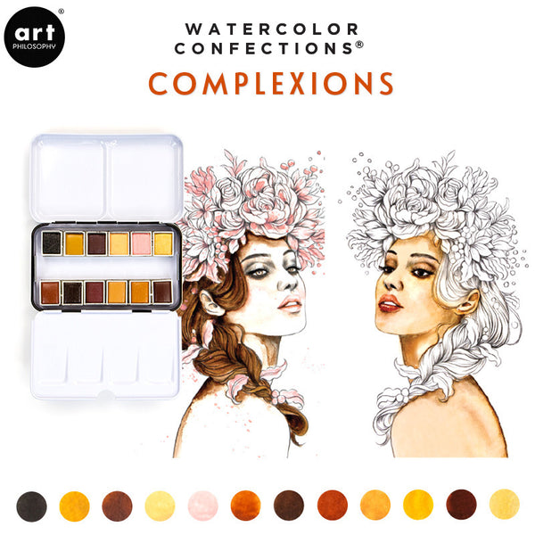 Complexions - Watercolor Confections Set by Art Philosophy - Prima Marketing