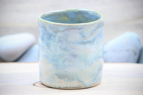 Water Lilies Porcelain 10 oz Squishy Cup ~ Tumbler Mug Tea Cup - Ceramic Pottery - Glazed Porcelain