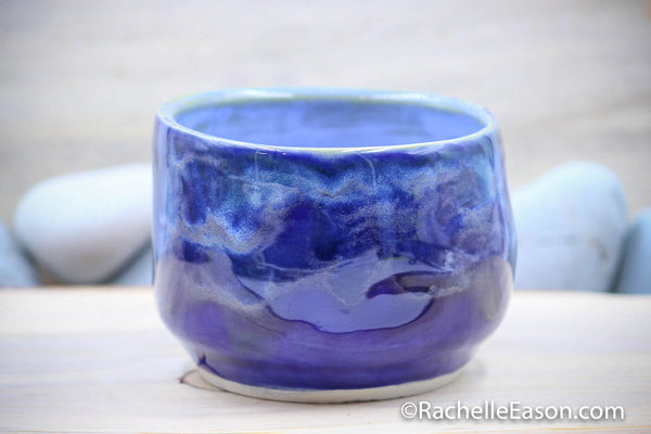 Midnight Waves (Porcelain) Cereal Bowl - Ceramic Pottery - Glazed Porcelain