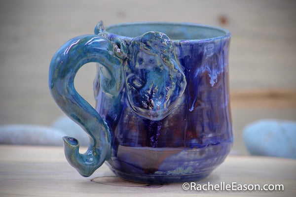 Elephant Named Loretta ~13 oz Mug Tea Cup - Ceramic Pottery - Glazed Stoneware