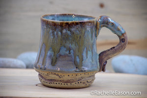 Dottie Tea ~10 oz Mug Tea Cup - Ceramic Pottery - Glazed Stoneware