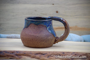 Denim Days ~16 oz Mug Tea Cup - Ceramic Pottery - Glazed Stoneware