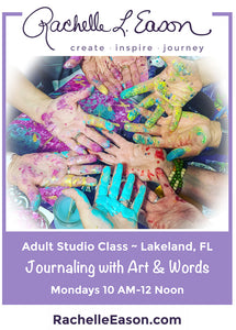 Journaling with Art & Words Studio Classes -  Monday Mornings