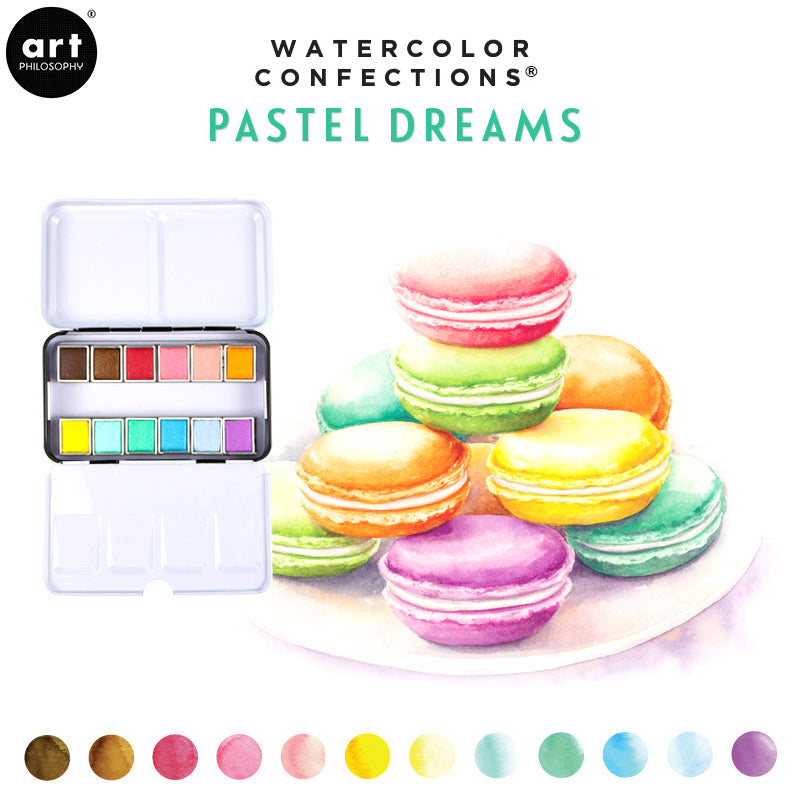 Pastel Dreams- Watercolor Confections Set by Art Philosophy - Prima Marketing