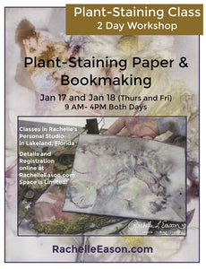 Eco-Staining Class - Eco-Printing and Bookmaking - 2 Day Workshop