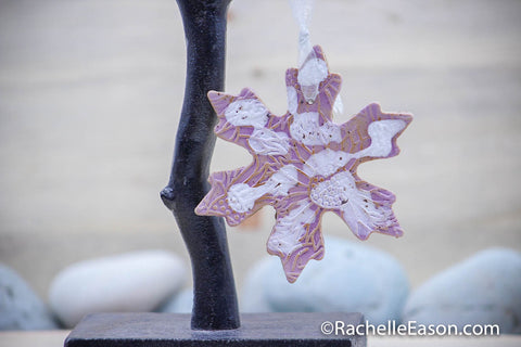 Snowflake Ornament - Ceramic Pottery - Stoneware
