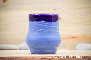 Blue Swirl Porcelain Clay ~13 oz Mug Tea Cup Tumbler - Ceramic Pottery - Glazed Stoneware
