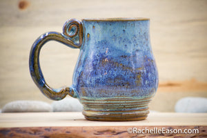 Blue Lake Perfection~ 19 oz Mug Tea Cup - Ceramic Pottery - Glazed Stoneware