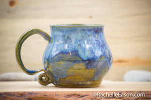 Blue Lake ~ 19 oz Mug Tea Cup - Ceramic Pottery - Glazed Stoneware