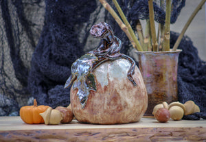 Fairy Tale Pumpkin- Seasonal Sculpture - Made to Order! - Ceramic Pottery -Glazed Stoneware