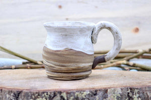 Sea Salt ~ Emma ~ (Deep Earth) 14 oz Mug Tea Cup - Ceramic Pottery - Glazed Stoneware