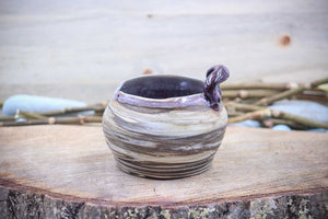 Boho Plum (Deep Earth Clay) Sushi Bowl - Ceramic Pottery - Glazed Stoneware