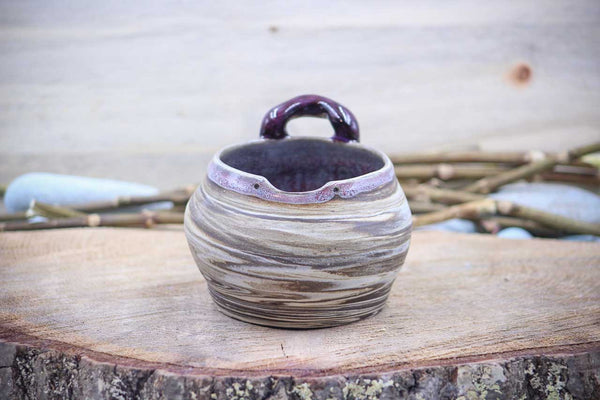 Boho Plum (Deep Earth Clay) 14 oz Sushi Bowl - Ceramic Pottery - Glazed Stoneware