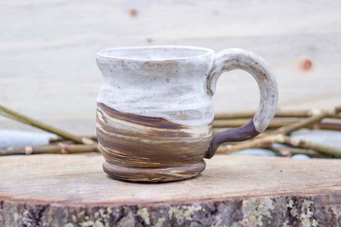 Sea Salt ~ Lane ~ (Deep Earth) 14 oz Mug Tea Cup - Ceramic Pottery - Glazed Stoneware