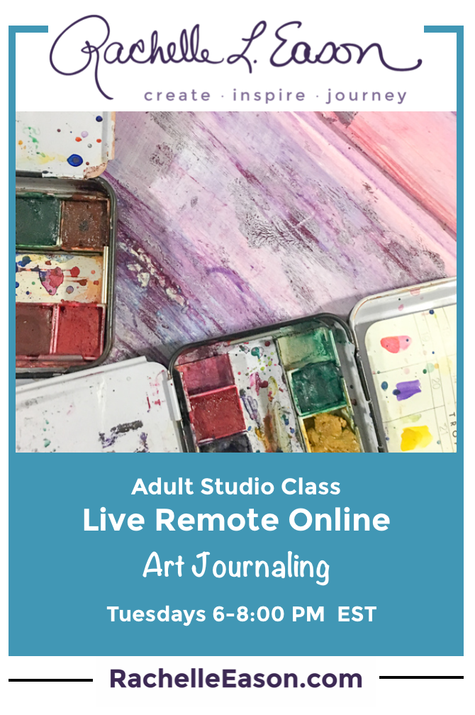 Art Journaling - Live Remote Online -  Tuesday Evenings