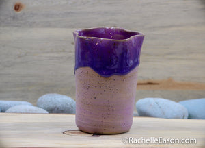 Fairy Stories - Wavy Plum Ceramic Pottery Vase - Glazed Stoneware