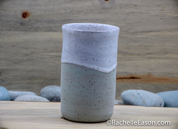 Mint Cream - White Ceramic Pottery Vase - Glazed Stoneware