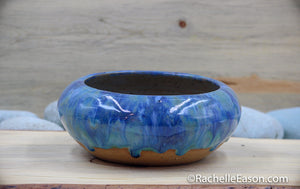 Blue Lagoon Bowl 20 oz- Ceramic Pottery - Glazed Stoneware