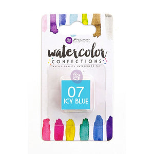 07 Icy Blue - Refill Pan - Watercolor Confections Set by Art Philosophy - Prima Marketing