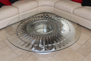 Rolls Royce Pegasus engine - Low Pressure LP3 Turbine Fan Coffee Table