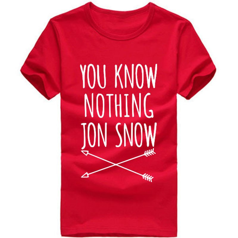 "T-shirts GOT ""You know nothing Jon Snow"" pour femmes"